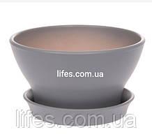 Фиалочница керамическая серая