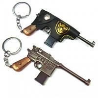 Брелок на подарок из металла Старинный пистолет