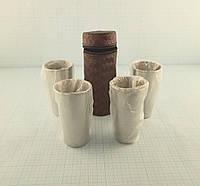Набор металлических стаканчиков (4х100 грамм) в чехле