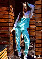 Костюм женский спортивный с капюшоном костюмка Мята