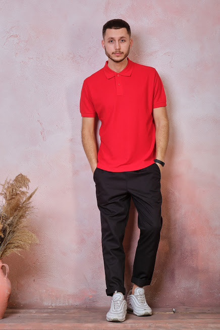 Мужская футболка-поло JHK POLO REGULAR MAN цвет красный (RD)