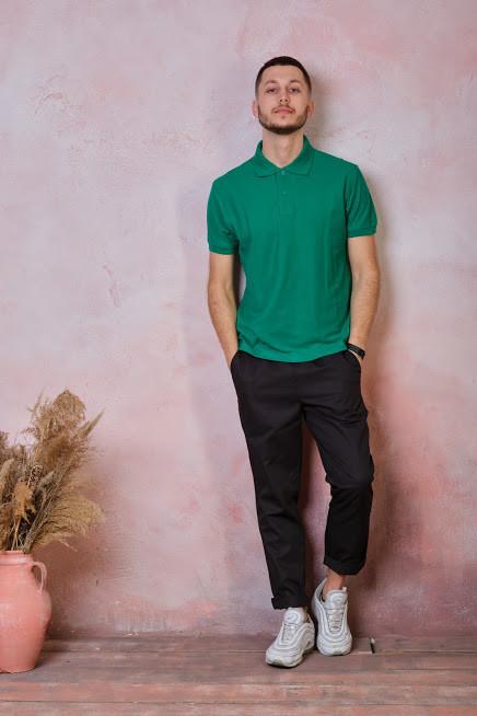 Мужская футболка-поло JHK POLO REGULAR MAN цвет зеленый (KG)