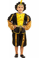 Детский костюм Принц, Паж 6,7,8,9,10 лет. Новогодний карнавальный для мальчиков. Черный