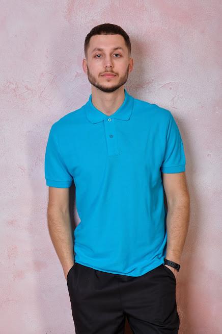 Мужская футболка-поло JHK POLO REGULAR MAN цвет голубой (SK)