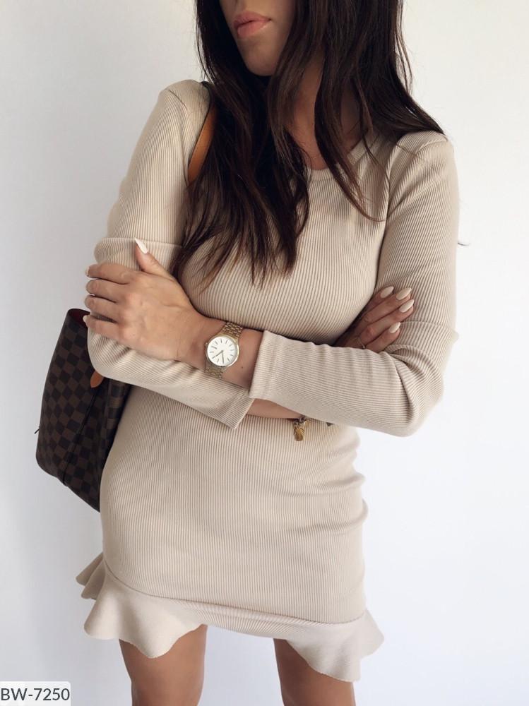 Платье мини женское ангора с воланом нарядное размеры 42-44 46-48 новинка 2020 много цветов
