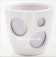 Вазон керамический белый + лавандовый