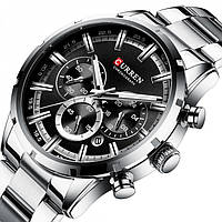 Мужские часы Tissot Curren silver+black