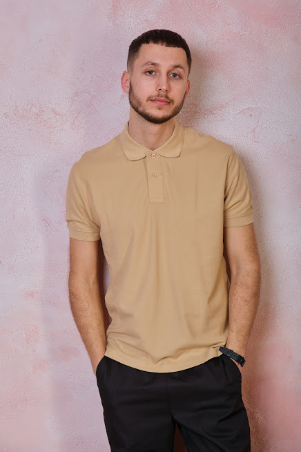 Мужская футболка-поло JHK POLO REGULAR MAN цвет песочный (SA)