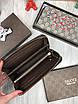 Кошелек Gucci | Бумажник мужской женский Gucci змея | Коричневый органайзер Гуччи змея | Портмоне Gucci змея, фото 5