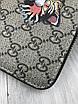 Кошелек Gucci на молнии | Бумажник мужской женский Gucci коричневый | Брендовый кошелек Гуччи для денег и карт, фото 6