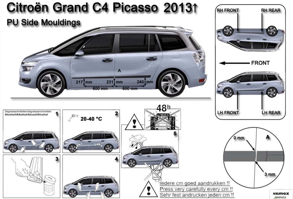 f-14/16 Молдинги на двері для  Citroen C4 Grand Picasso II 2013>, фото 7