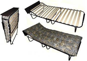 """Раскладушка-кровать ортопедическая на ламелях с регулируемым подголовником «Венеция Люкс""""   Раскладная кровать"""