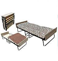 Раскладушка Белла с матрасом и деревянными ламелями, для сна и отдыха