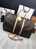 Дорожная сумка Louis Vuitton|Сумка для путешествий Луи Виттон кожаная вместительная мужская женская