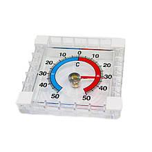 Термометр уличный механический (оконный на липучках) 7х7см арт.285