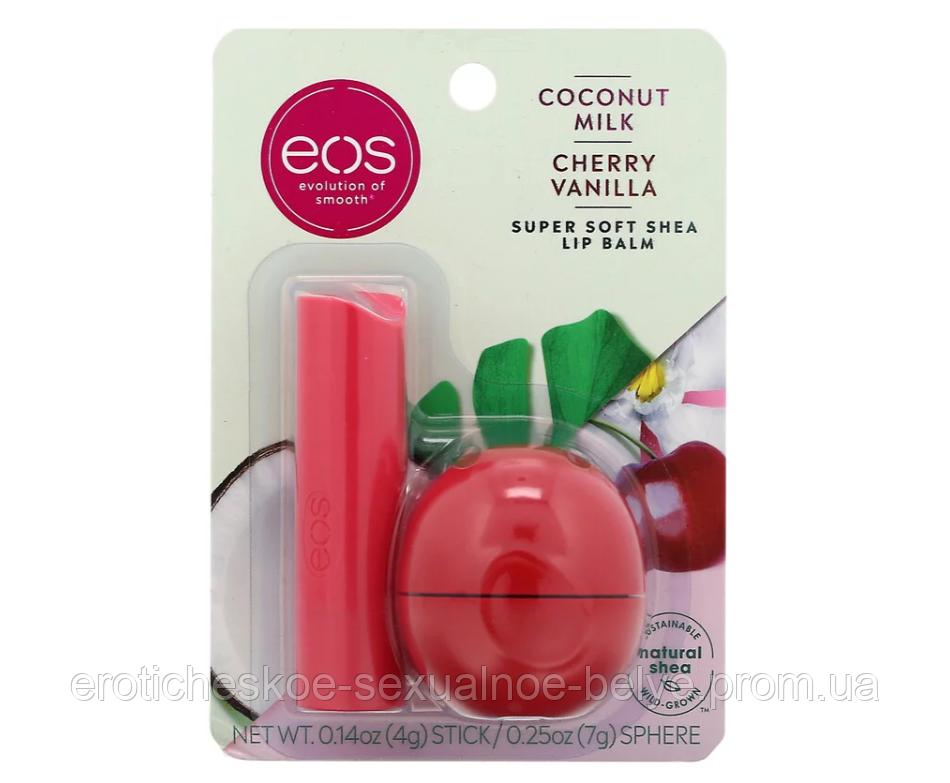 "Бальзам для губ EOS ""Cherry Vanilla"" (оригинал) / Косметика / Уход за губами"