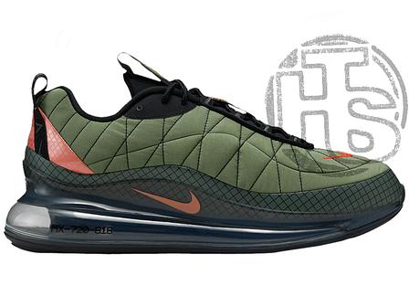 """Чоловічі кросівки Nike Air Max 720-818 """"Flight Jacket"""" Cargo Khaki Orange CI3871 300, фото 2"""
