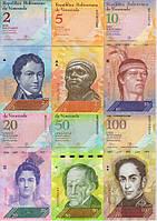 Венесуэла набор из 6 банкнот 2011-2015 UNC