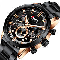 Мужские часы Tissot Curren black+gold