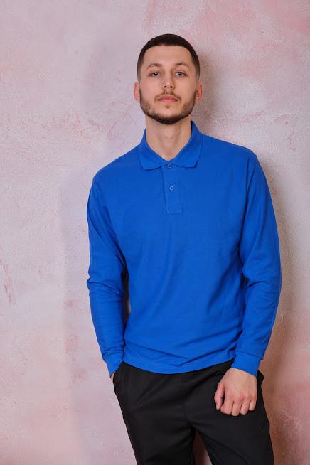 Мужская футболка-поло POLO REGULAR MAN LS цвет синий (RB)