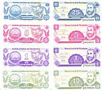 Никарагуа набор из 4 банкнот UNC