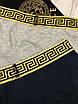 Трусы мужские Versace | Набор мужских боксеров Версаче | Трусы-шорты мужские Версаче с логотипом в коробке, фото 8