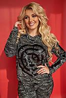 Женский теплый спортивный костюм кофта+штаны трикотаж с начесом размер:48-50, 52-54, 56
