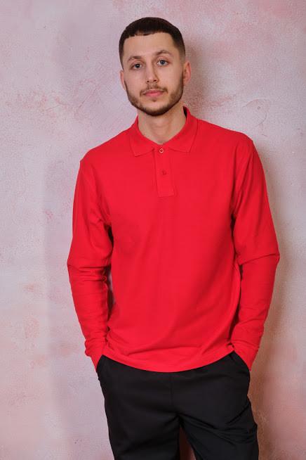 Мужская футболка-поло POLO REGULAR MAN LS цвет красный (WR)