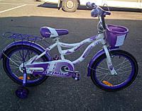 Детский велосипед Azimut Kiddy 20 дюймов для девочки от 6 лет до 9 лет розовый фиолетовый