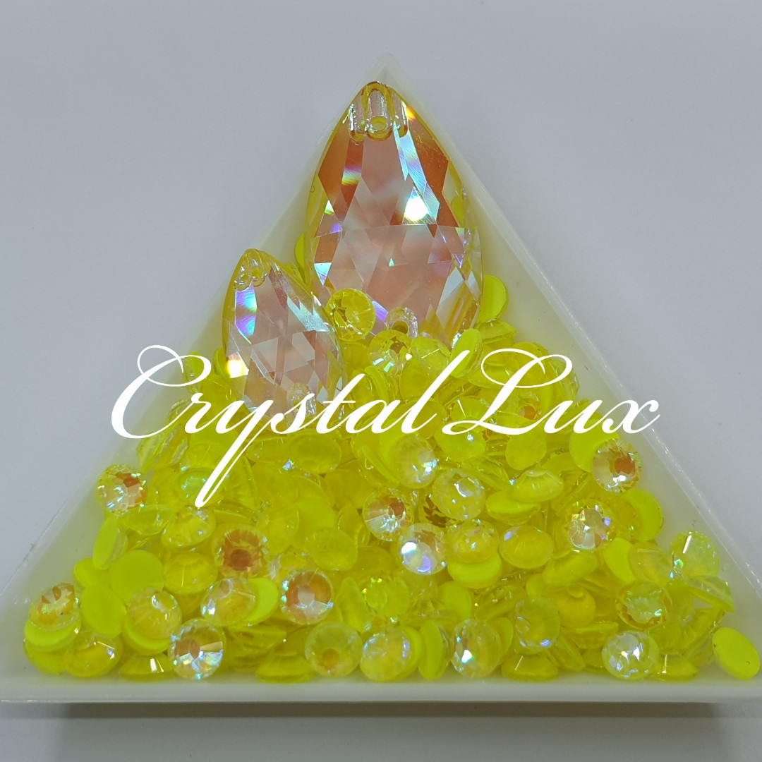 Стрази ss16 Crystal Electric Yellow DeLite 1440шт, (4.0 мм)