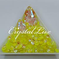 Стразы ss16 Crystal Electric Yellow DeLite 100шт, (4.0мм)