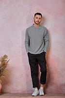 Мужская футболка-поло POLO REGULAR MAN LS цвет темно-серый меланж (GM), фото 3