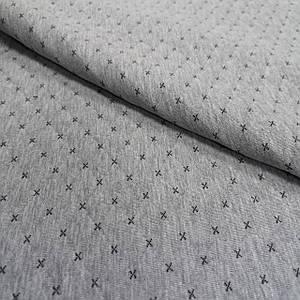 Стеганный трикотаж ромб Zara светло-серый меланж
