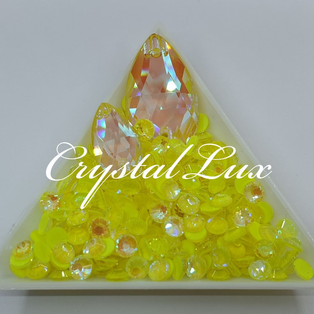 Стрази ss30 Crystal Electric Yellow DeLite 50шт, (6.5 мм)
