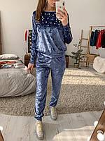 Стильный костюм из дорогого мраморного бархата