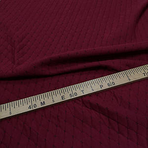 Стеганный трикотаж ромб Zara бордовый