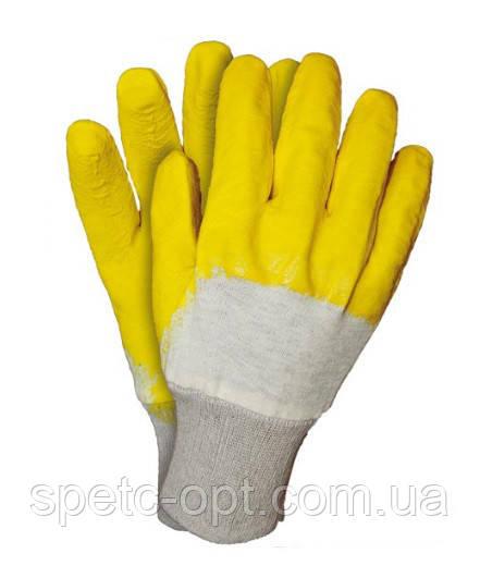 Перчатки рабочие стекольщика на ХБ основе, перчатки прорезиненные