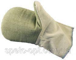 Рукавиці робочі х/б з брезентовим надолонником, робочі рукавиці улиленые