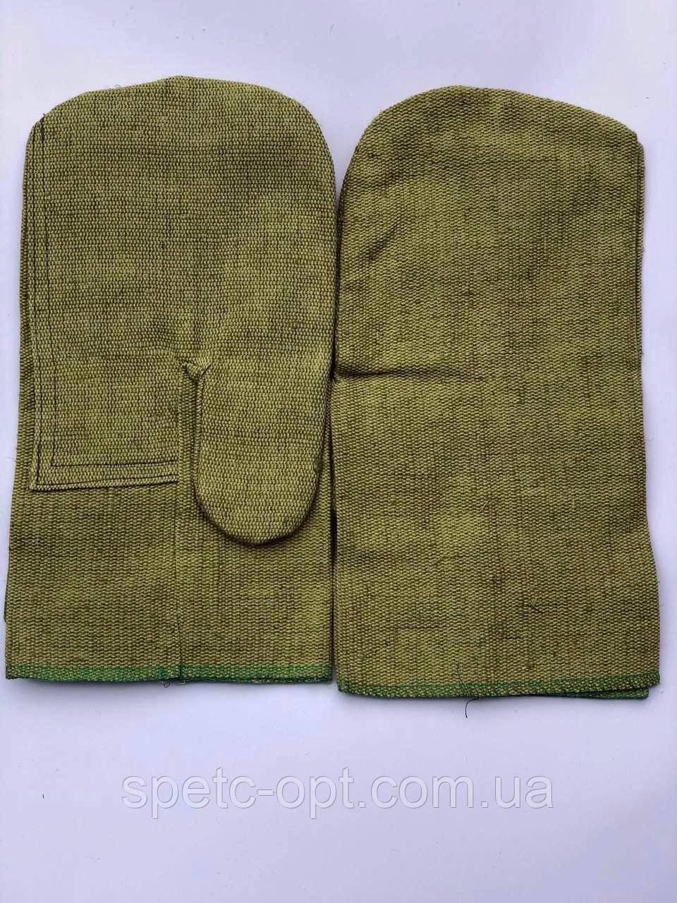 Рукавицы брезентовые с двойным наладонником. брезентовые рукавицы усиленные.