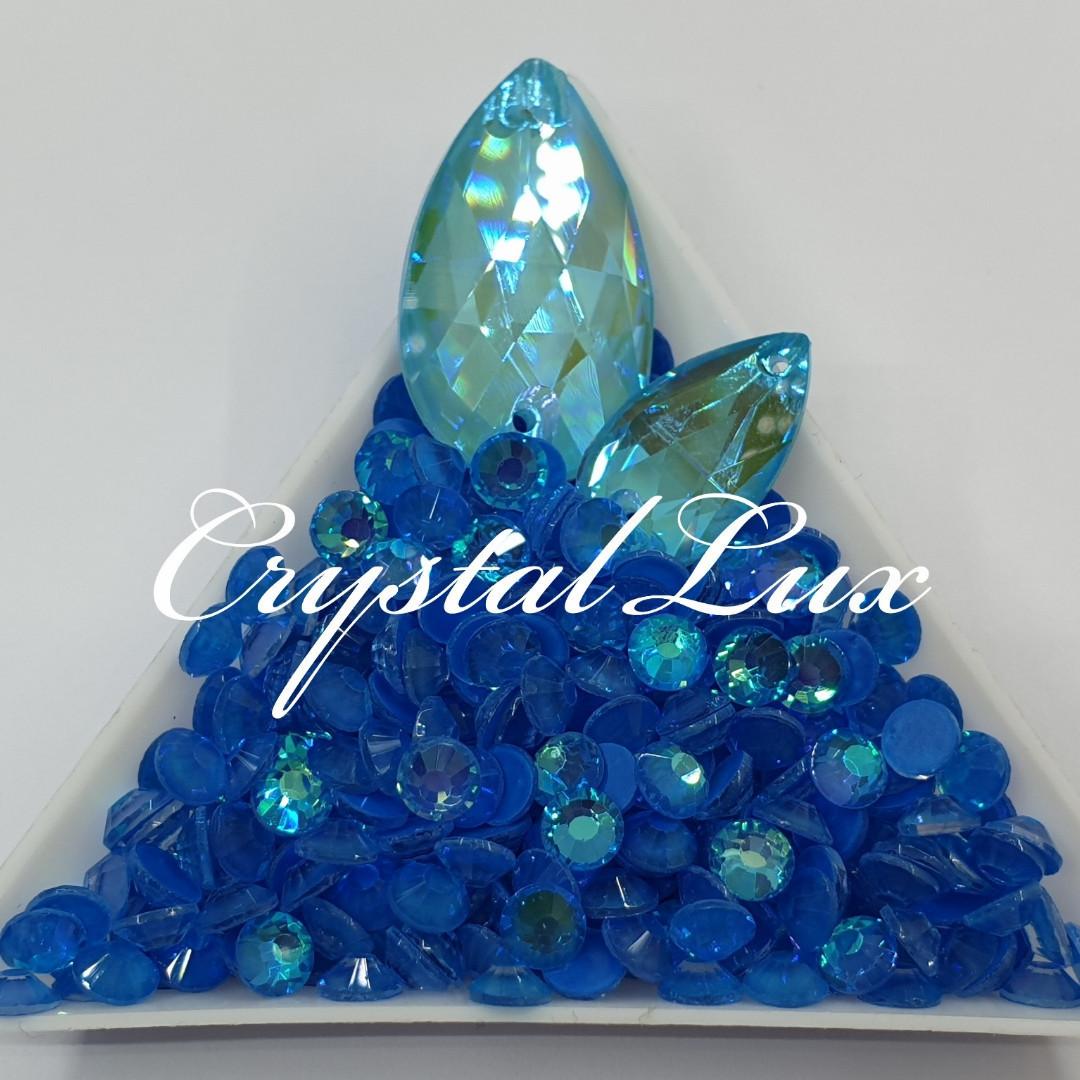 Стразы ss30 Crystal Electric Blue DeLite 50шт, (6.5мм)