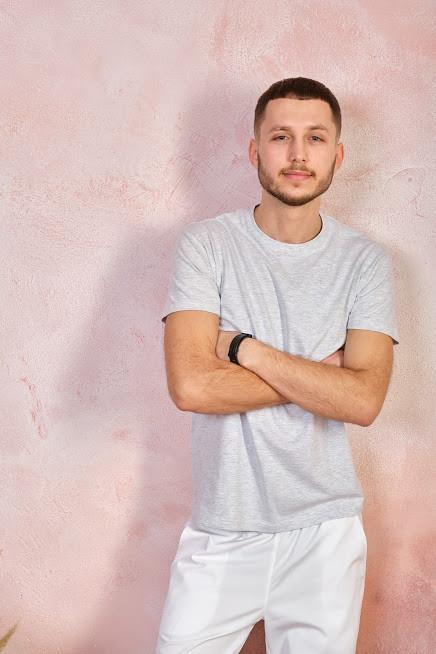 Мужская футболка JHK REGULAR T-SHIRT цвет светло-серый меланж (AS)