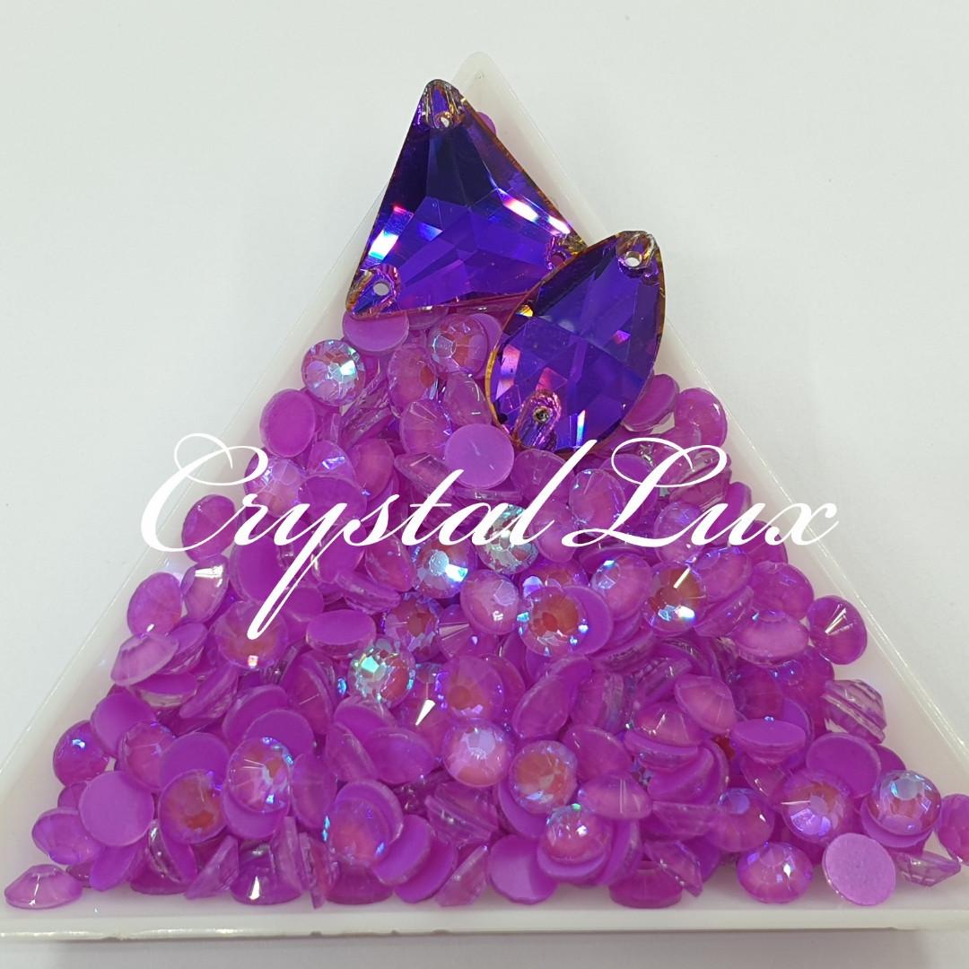 Стрази ss16 Crystal Electric Purple DeLite 1440шт, (4.0 мм)