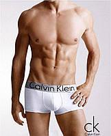 Мужские трусы боксеры транки шорты брендовые Кельвин Кляйн модель Steel 5 цветов модал/хлопок