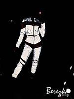 Женский спортивный светоотражающий костюм из рефлективной плащевки 66SP828E