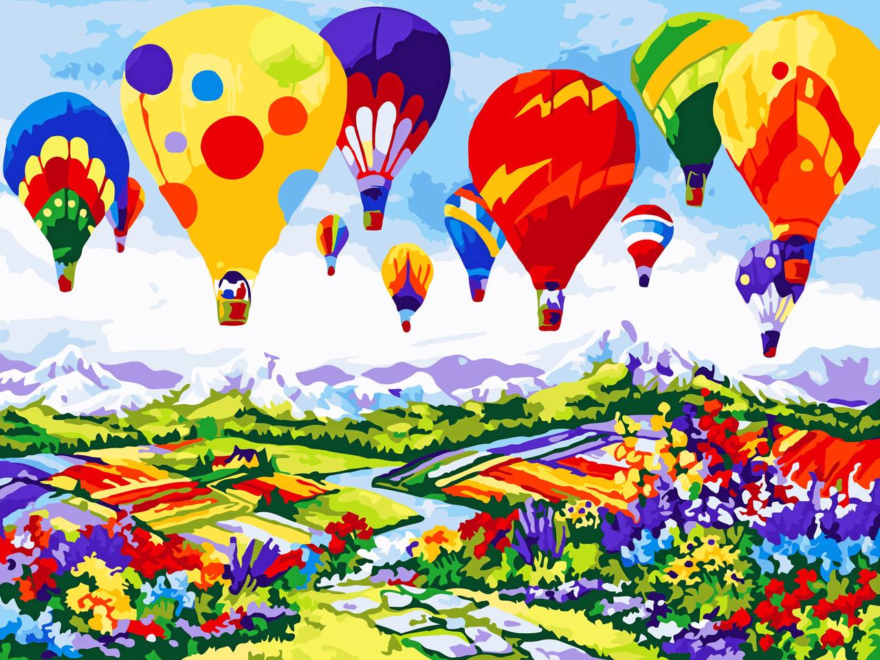 Художественный творческий набор, картина по номерам Воздушные шары, 40x30 см, «Art Story» (AS0598)
