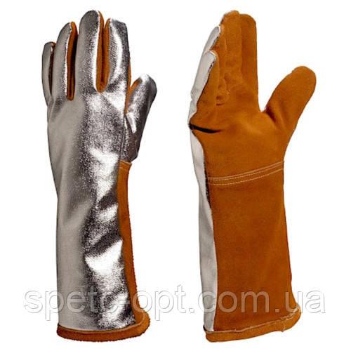 Краги алюминизированные, перчатки термостойкие TERK 400, краги сварщика.