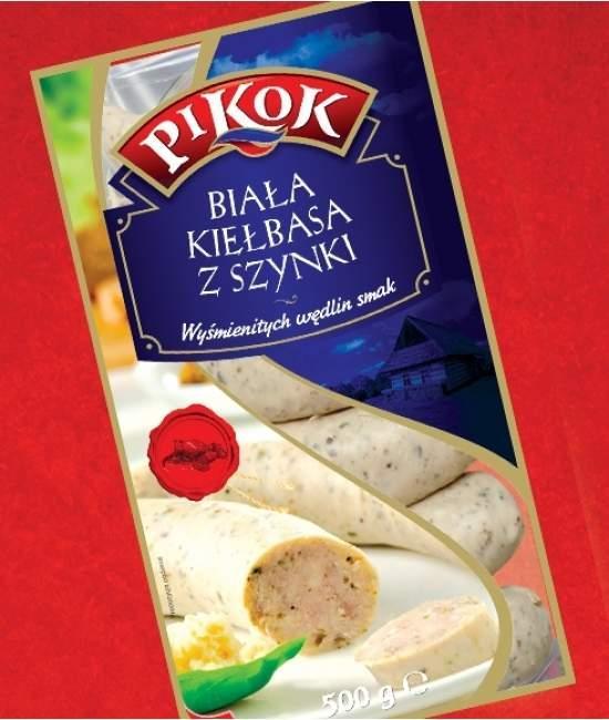Колбаса белая из ветчины Pikok 500гр