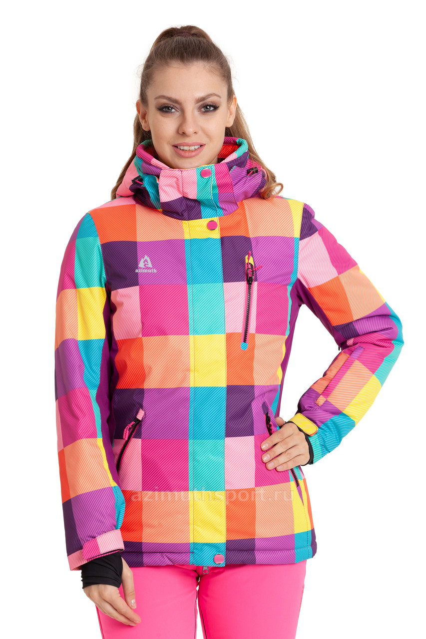 Женская горнолыжная куртка AZIMUTH радуга 48 р