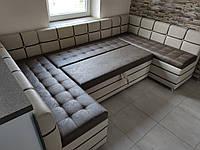"""П- образный кухонный уголок со спальным местом """" Edison  D"""""""