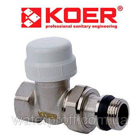 "Кран термостатический прямой (KR.923) 3/4"" KOER"